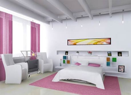1. Inspiration sovrum - det rosa minimalistiska